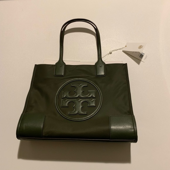 84a25838ac34 Dark green Tory Burch Emma mini tote NWT